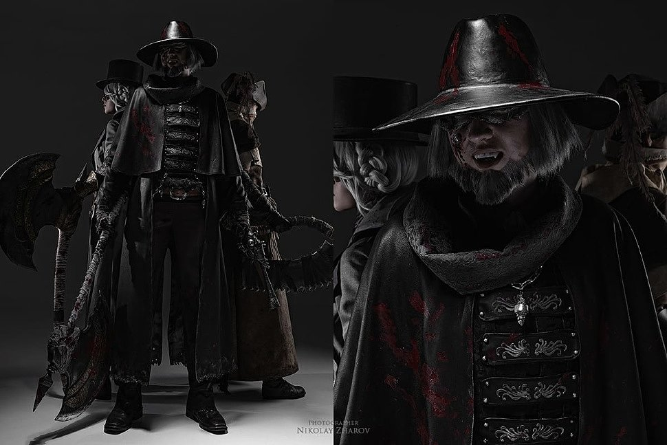 Russian Cosplay: Hunter, Father Gascoigne & Old Hunter Henryk (Bloodborne)