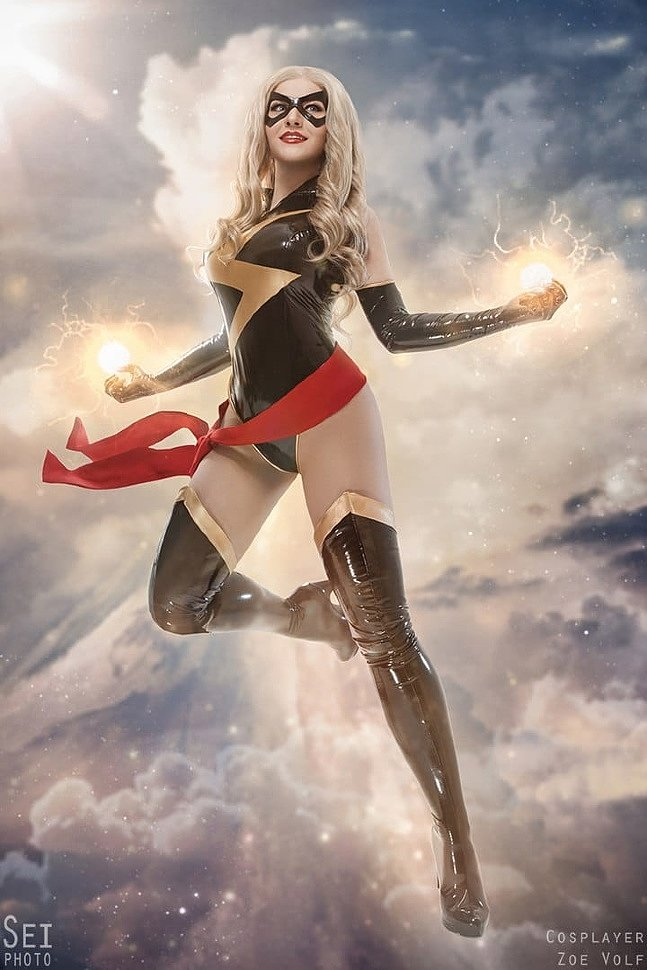 Russian Cosplay: Miss Marvel (Marvel Comics) by SeiPhoto
