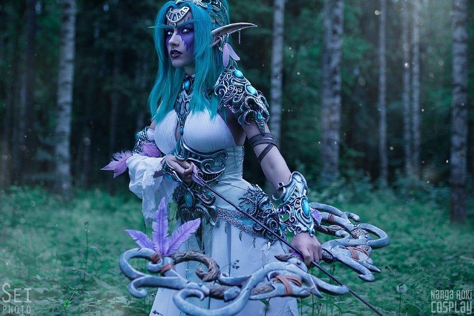 Russian Cosplay: Tyrande Wisperwind (World of Warcraft)