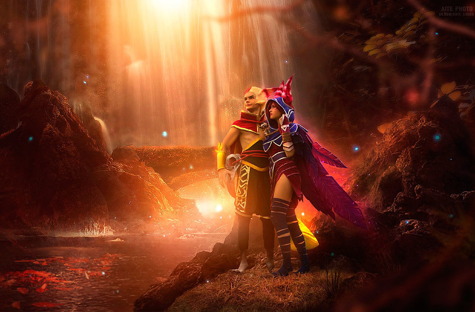 Russian Cosplay: Rakan, Xayah (League of legends)