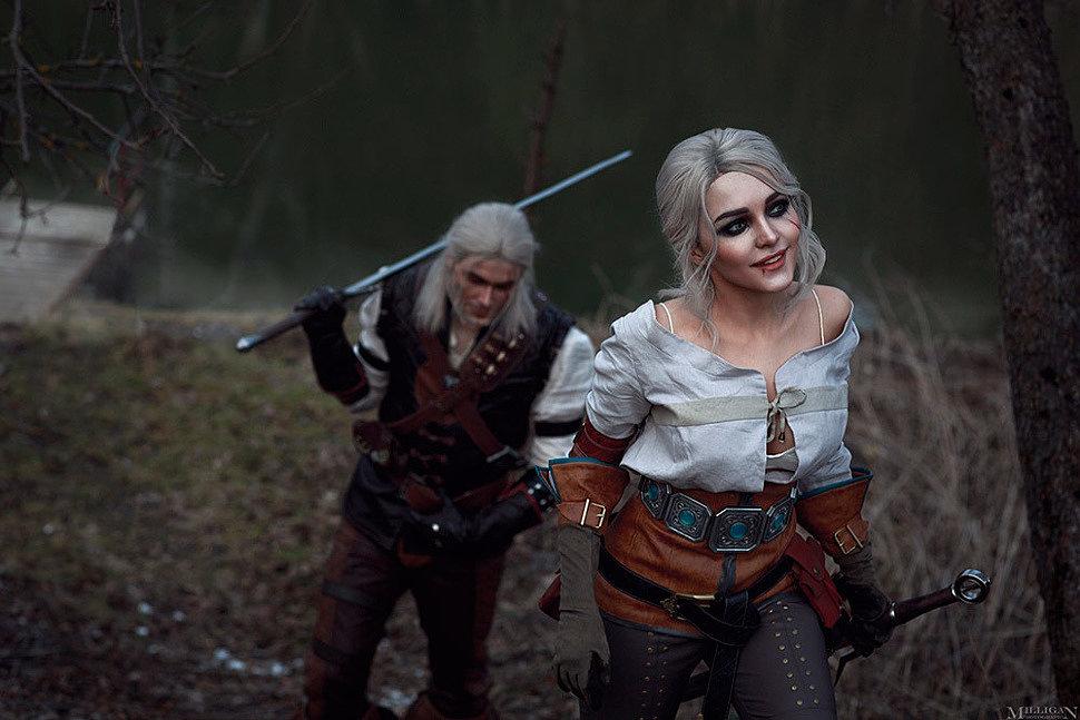 Russian Cosplay: Ciri & Geralt (The Witcher) by Kalinka Fox