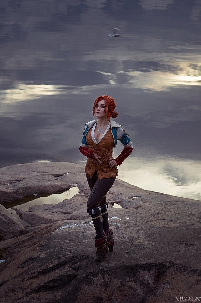 Russian Cosplay: Triss Merigold (The Witcher 3) by Kalinka Fox (18+)