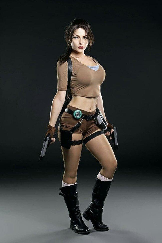 Russian Cosplay: Lara Croft (Tomb Raider) by Irina Meier (ver 2)