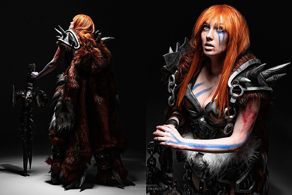 Russian Cosplay: Barbarian (Diablo 3) by Smirka