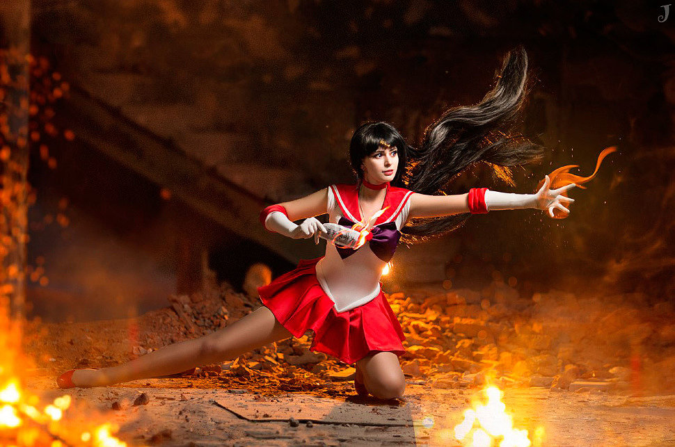 Russian Cosplay: Sailor Mars, Sailor Venus (Sailor Moon)