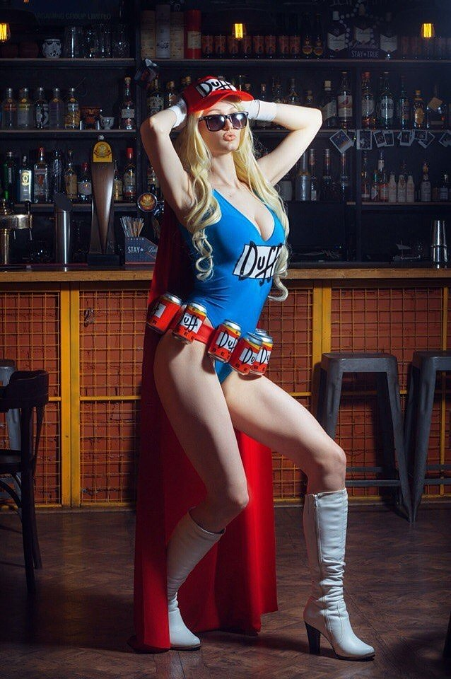 Russian Cosplay: Duffman (The Simpsons)