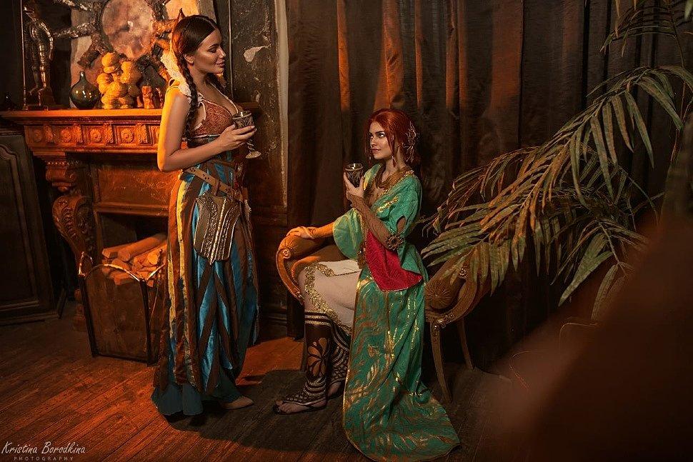 Russian Cosplay: Filippa Eilhart & Triss Merigold (Witcher)
