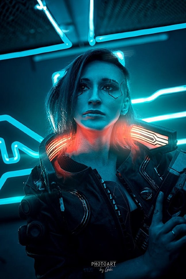 Russian Cosplay: V (Cyberpunk 2077) by Brickus