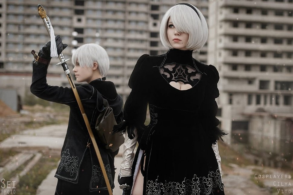 Russian Cosplay: 2B & 9S (NieR: Automata) by SeiPhoto