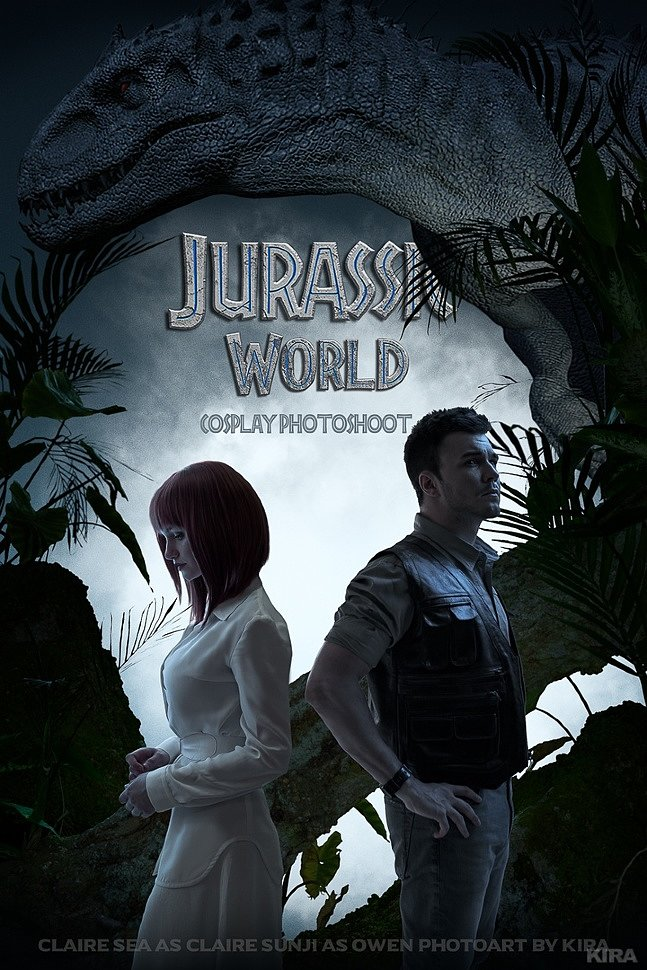 Russian Cosplay: Claire & Owen (Jurassic World) by Claire Sea & Sunji