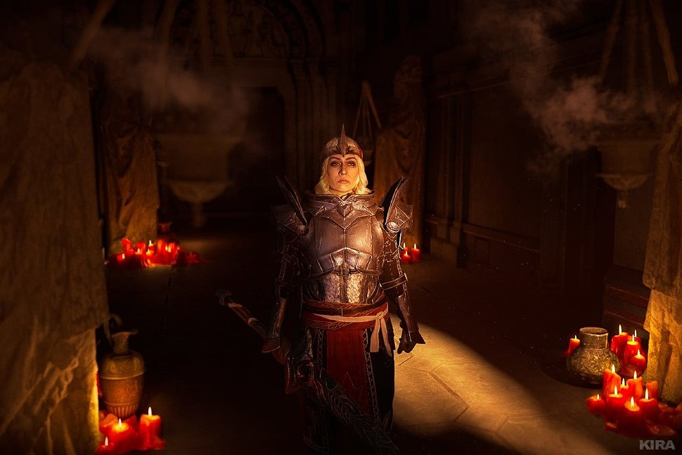 Russian Cosplay: Knight-Commander Meredith (Dragon Age II) by BehemothCat