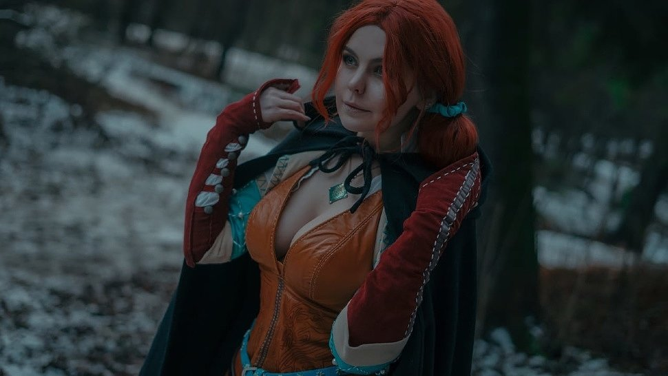Russian Cosplay: Triss & Geralt (The Witcher 3) by Asami Gate & Alex Wolf