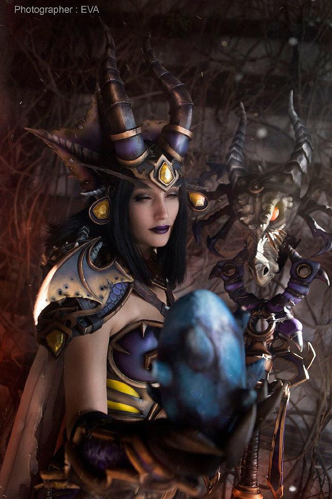 Russian Cosplay: Lady Sinestra (World of Warcraft)