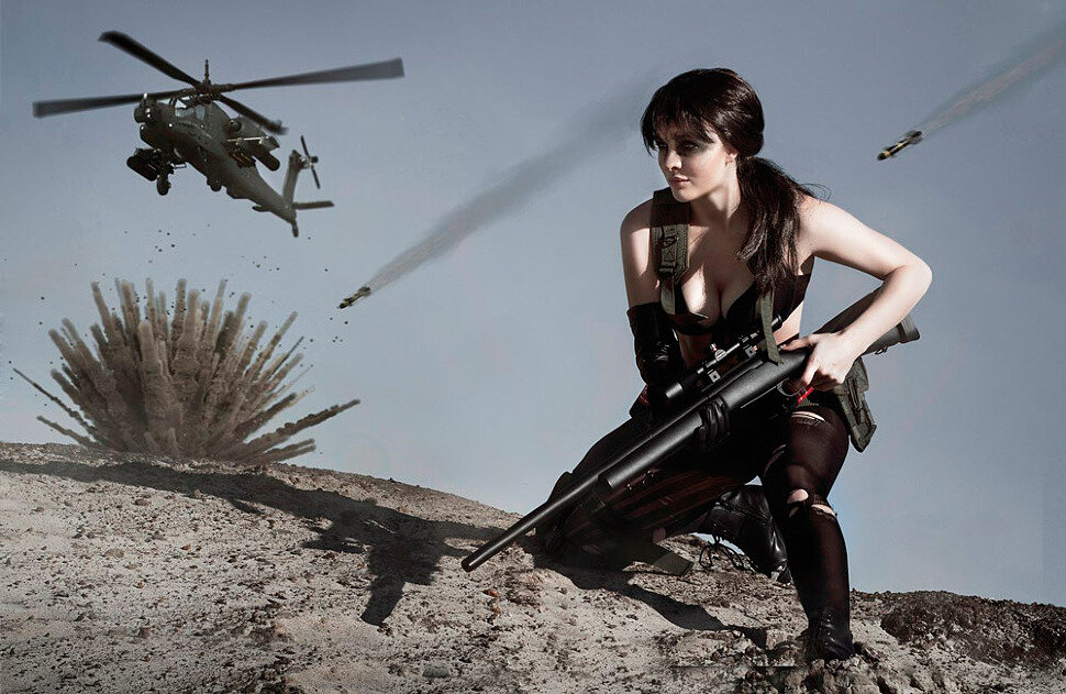 Russian Cosplay: Quiet (Metal Gear Solid V) by Katssby