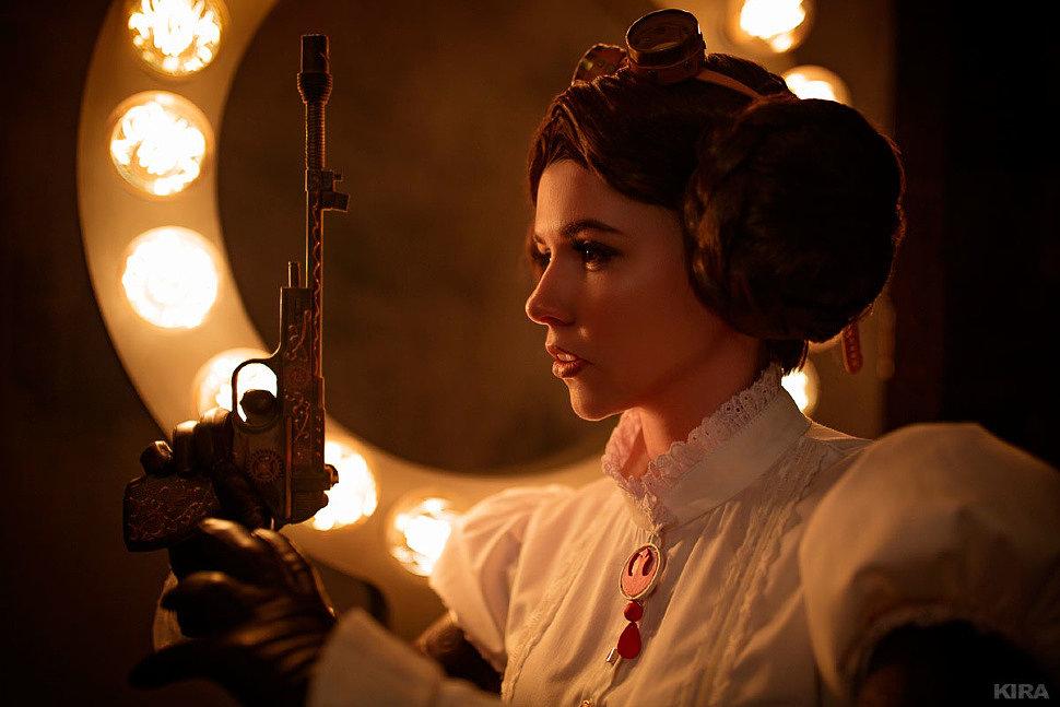 Russian Cosplay: Leia Organa (Steampunk version) (Star Wars)