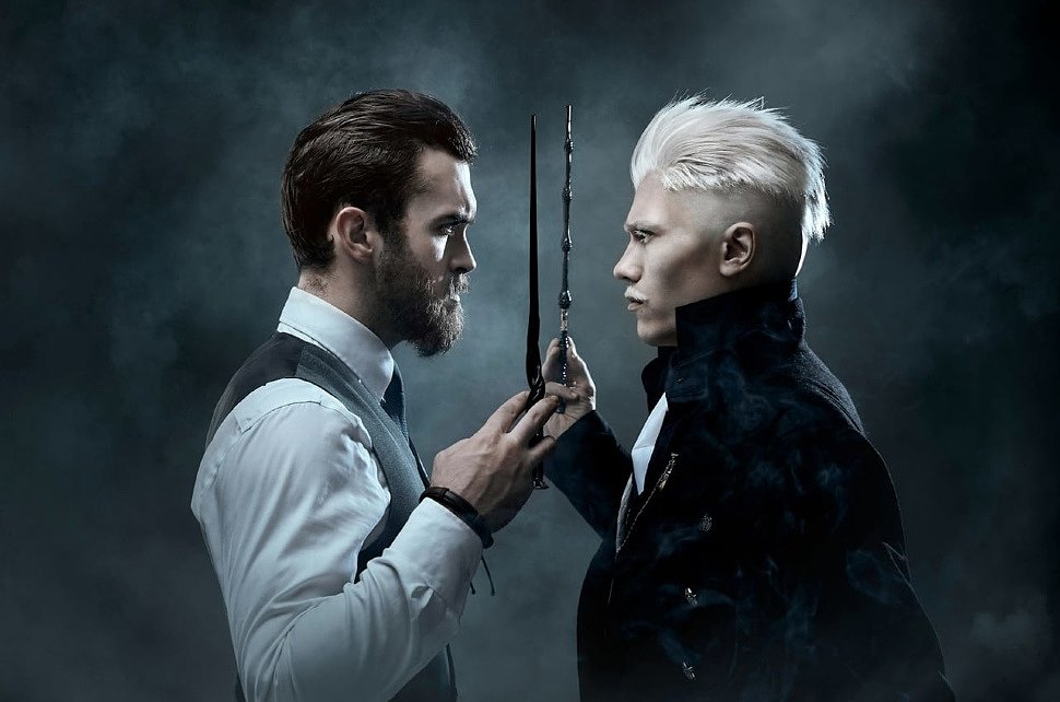 Russian Cosplay: Grindelwald & Dumbledore (Fantastic Beasts) by Alex Wolf & Ksyders