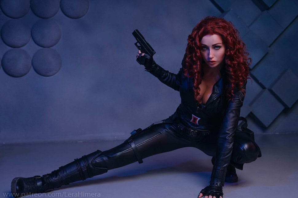 Russian Cosplay: Black Widow (The Avengers) by Himera