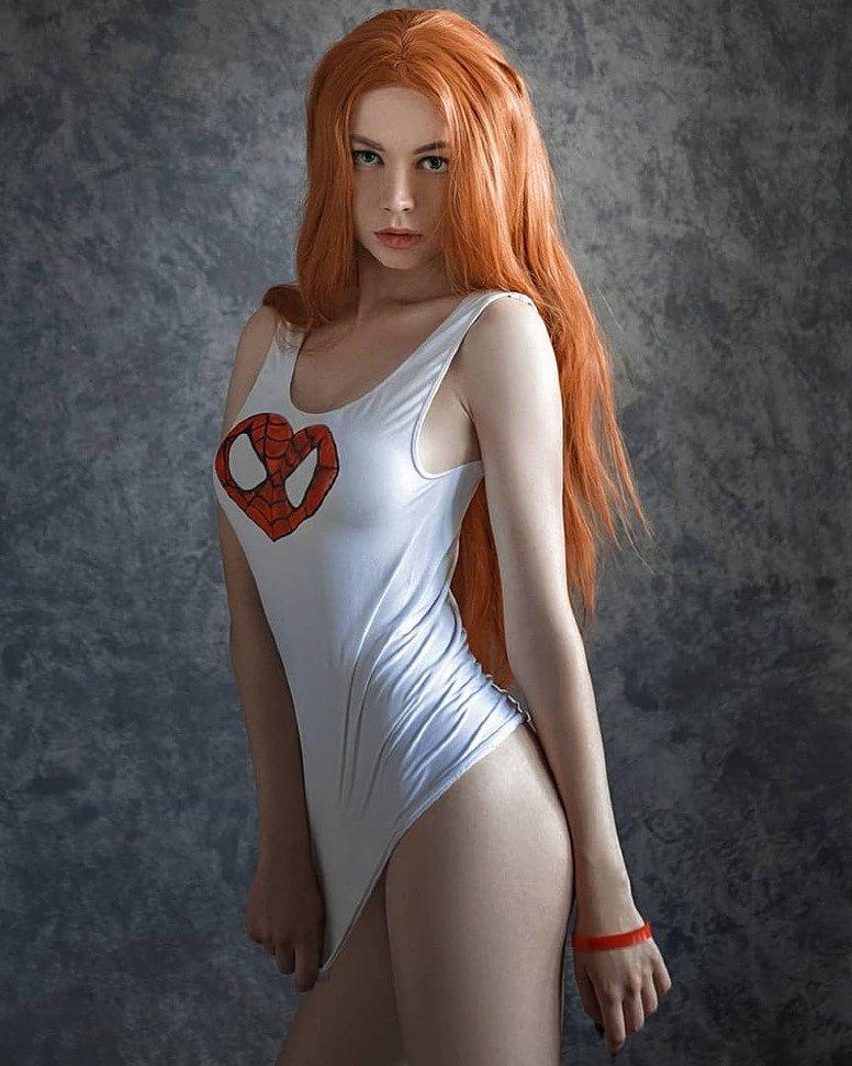 Russian Cosplay: Mary Jane Watson (Spider-man) by Sishka14