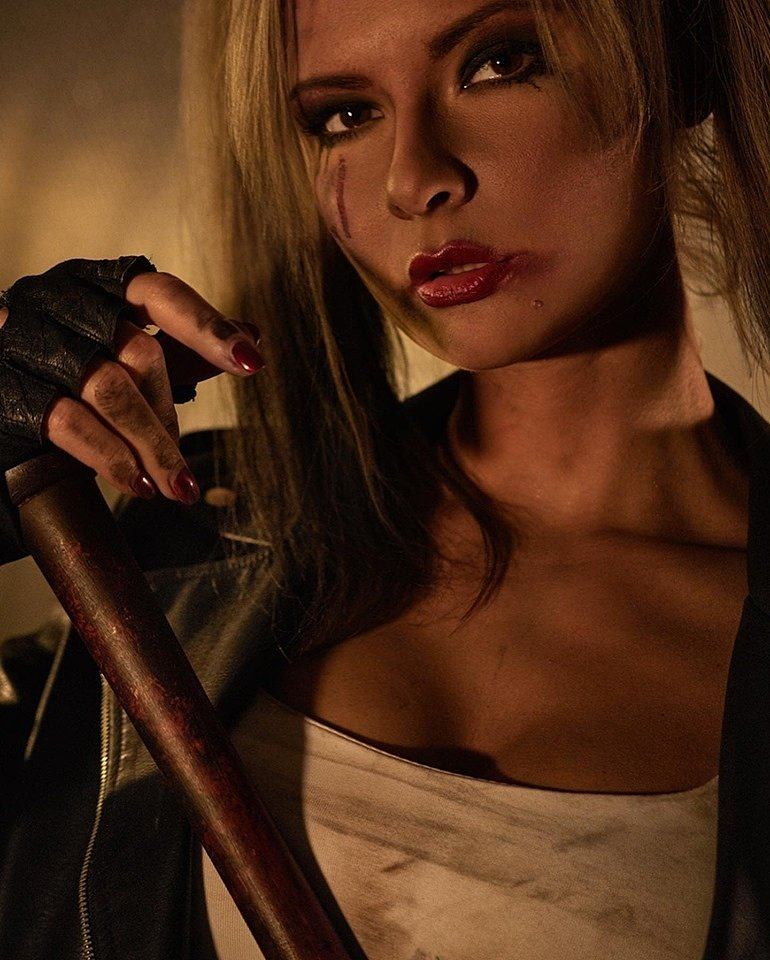 Russian Cosplay: Harley Quinn + Negan by Jannet Incosplay