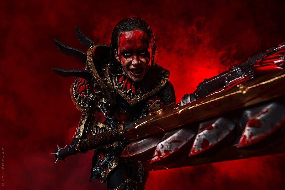 Russian Cosplay: Cultist of Khorne (Warhammer 40000)