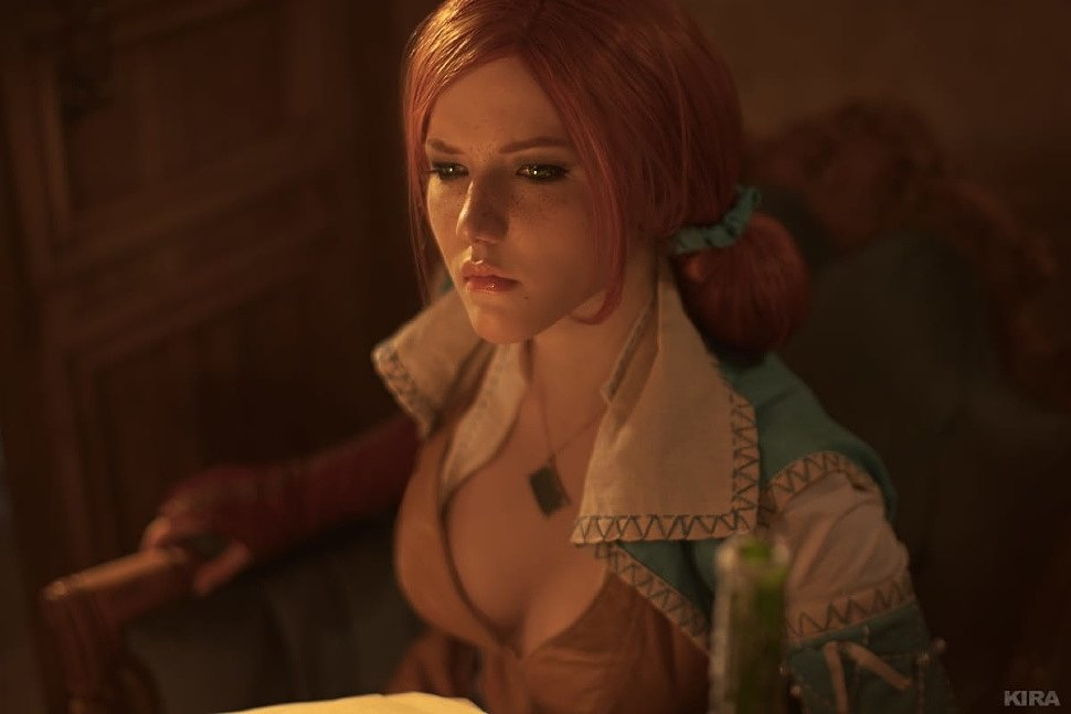 Russian Cosplay: Triss (Witcher) by Lyumos