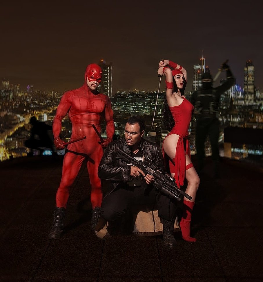 Russian Cosplay: Daredevil, Elektra & Punisher