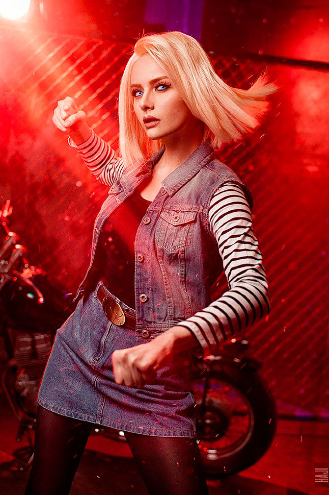 Russian Cosplay: Android 18 (Dragon Ball FighterZ)