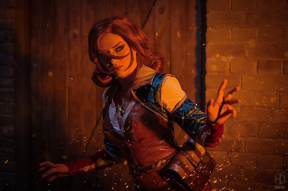 Russian Cosplay: Triss Merigold (The Witcher 3: Wild Hunt) by Lady Melamori