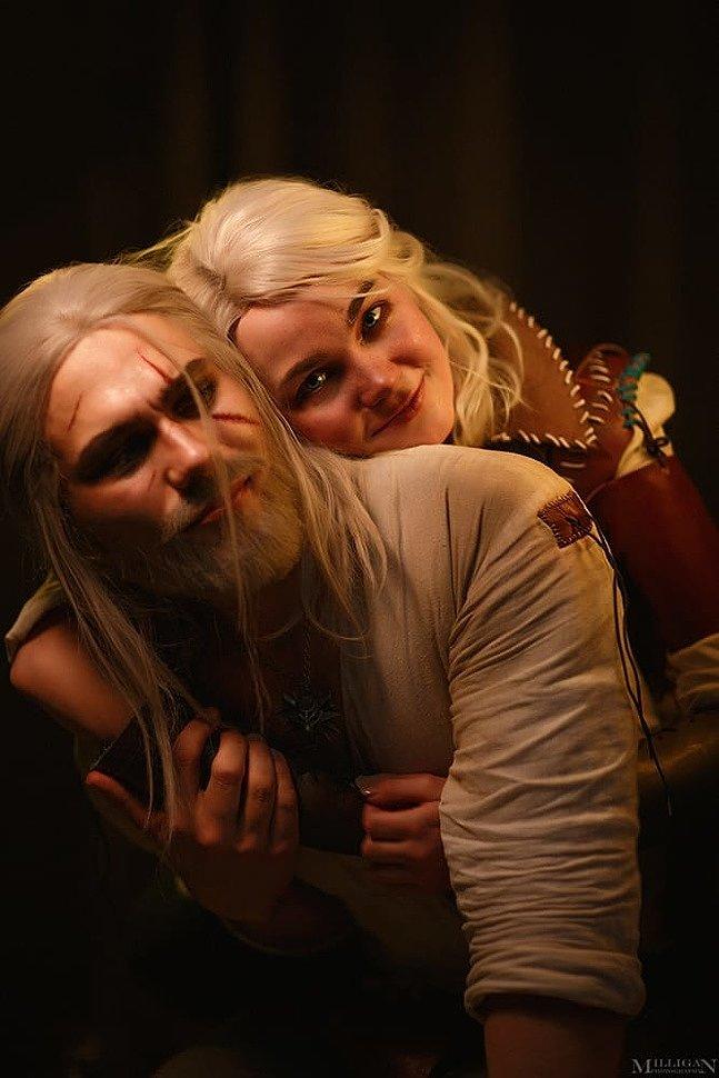 Russian Cosplay: Little Ciri & Geralt (The Witcher)