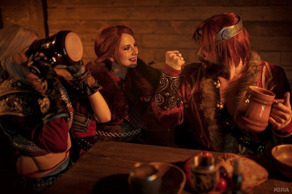 Russian Cosplay: Hjalmar, Cerys, Ciri, Yennefer, Dandelion & Geralt (The Witcher 3)