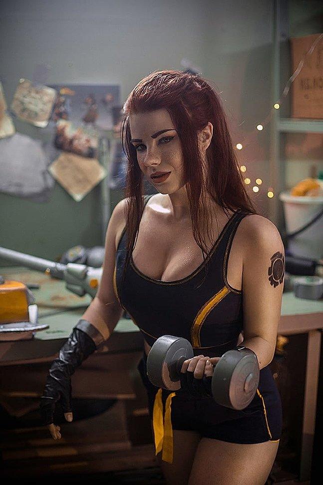 Russian Cosplay: Brigitte Lindholm (Overwatch)