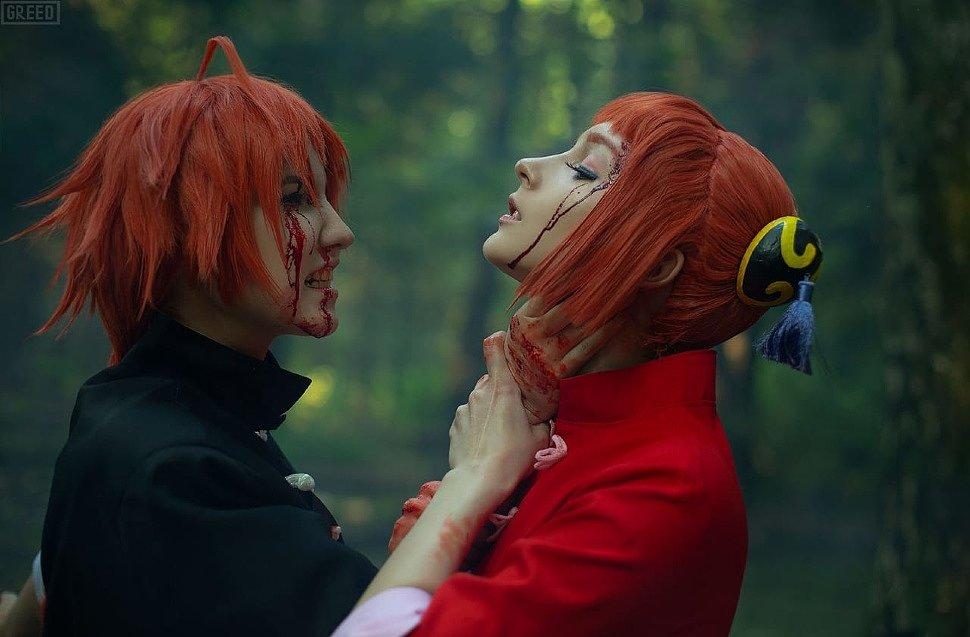 Russian Cosplay: Kagura & Kamui (Gintama)