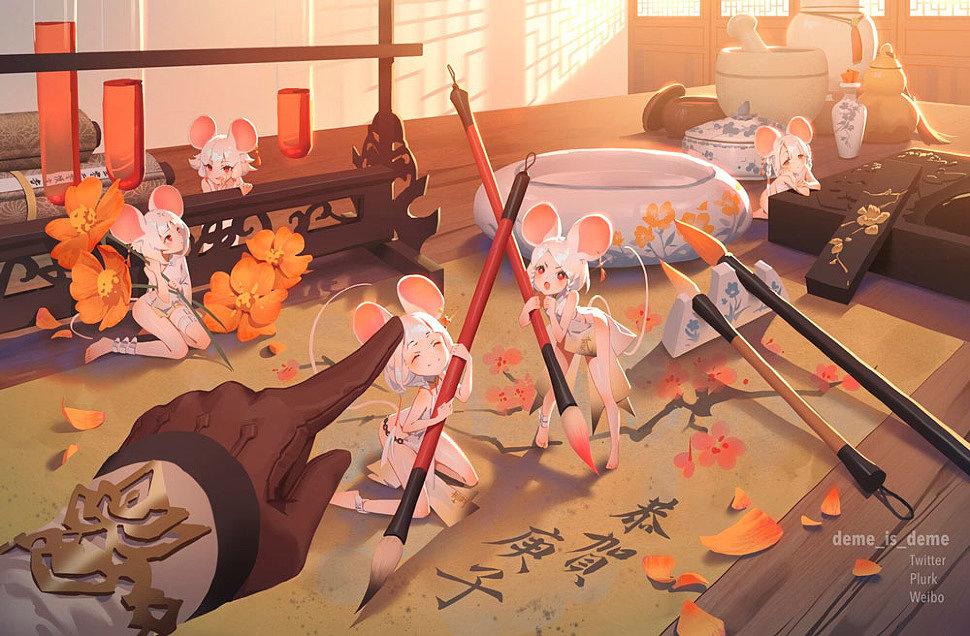 [Art] Anime Girls by Demeter Wu