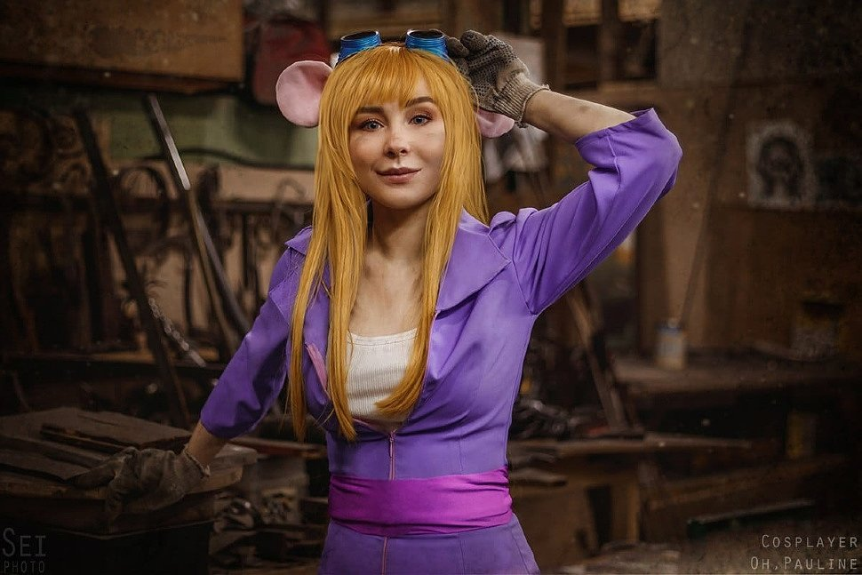 Russian Cosplay: Gadget (Chip and Dale) by Polina Shlyachina