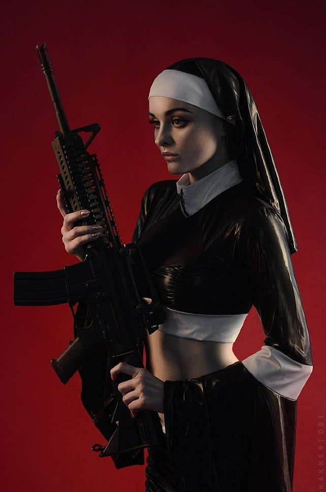Russian Cosplay: Nun by Sofiya Letyago