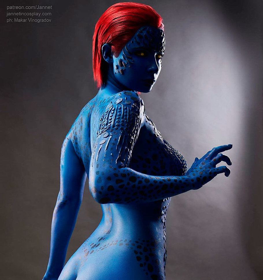 Russian Cosplay: Mystique (X-Men) by Jannet Incosplay