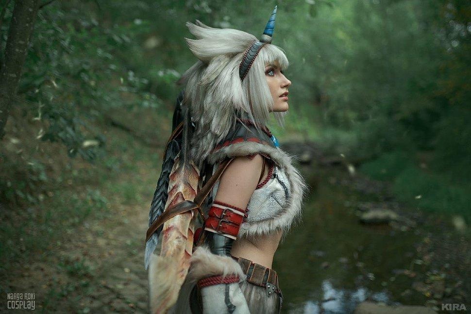 Russian Cosplay: Hunter (Kirin armor set) (Monster Hunter) by Narga