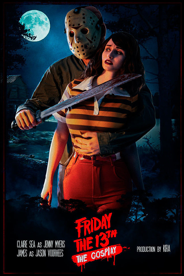 Russian Cosplay: Jenny Myers, Jason Voorhees (Friday the 13th: The Game. Crystal Lake) 18+