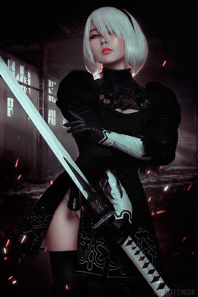 Russian Cosplay: 2B, 9S, A2 (NieR: Automata)