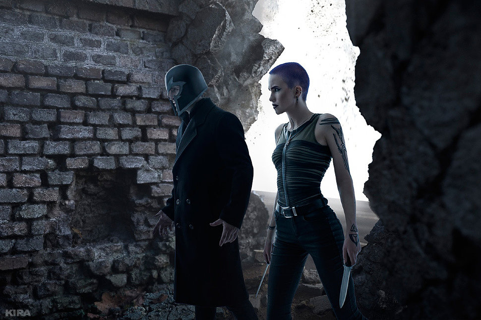 Russian Cosplay: Magneto, Selene (X-Men: Dark Phoenix)