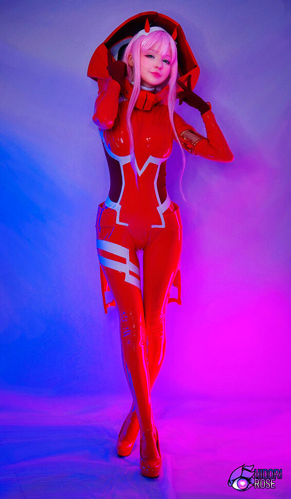 [Cosplay] Zero Two (Darling in the Franxx) by Hidori Rose (NSFW)