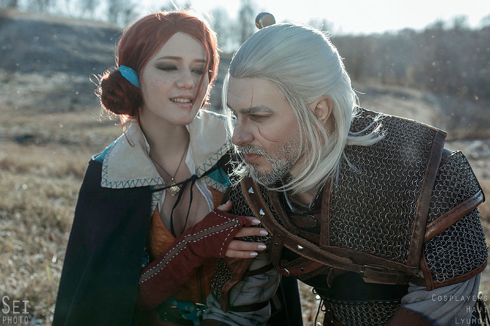 Russian Cosplay: Geralt, Triss (The Witcher 3)