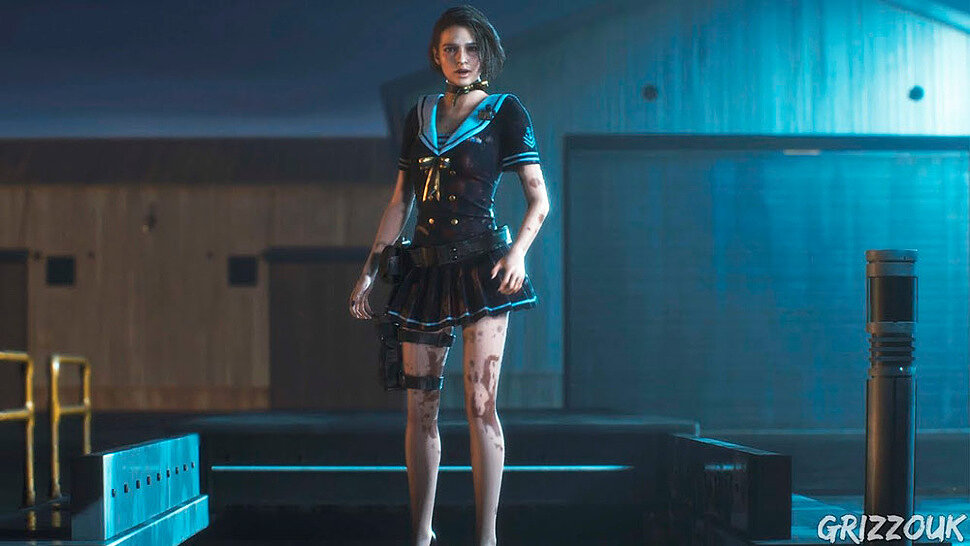 [Fun Video] Jill Valentine Sexy Navy Star Costume (Resident Evil 3 Remake)