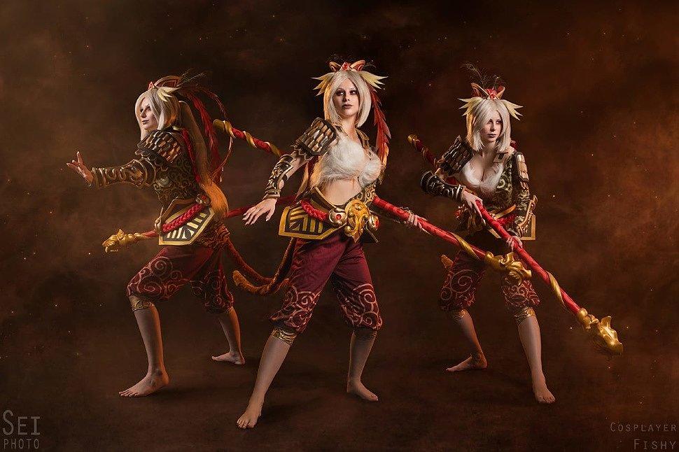 Russian Cosplay: fem! Monkey King (Dota 2) by Daria Kravets