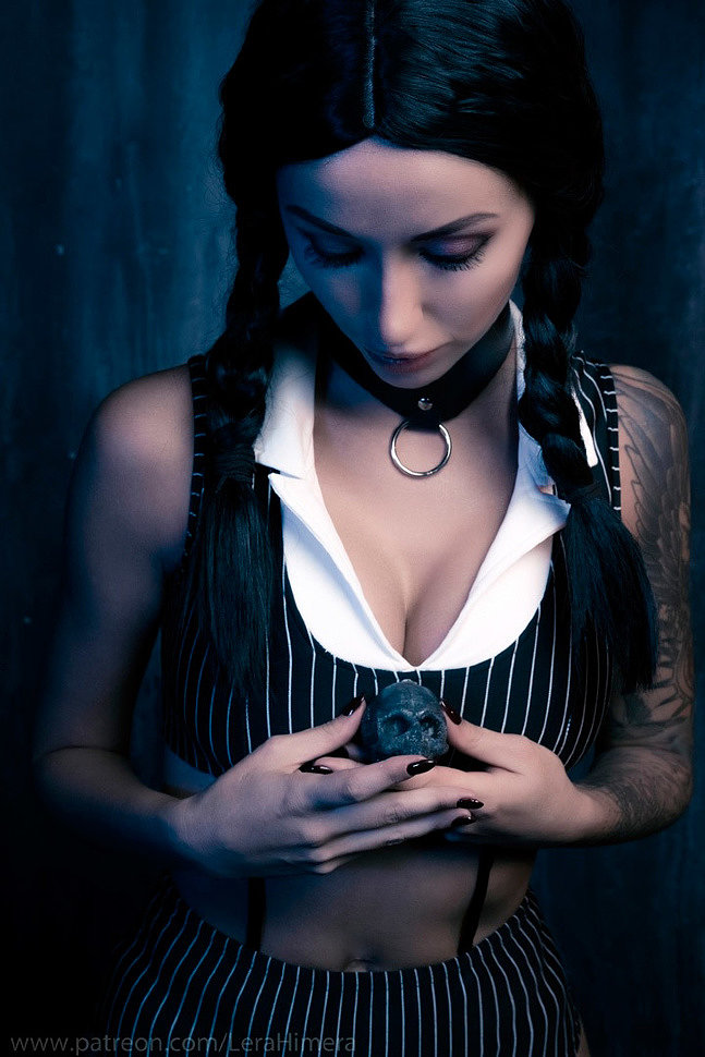 Russian Cosplay: Wednesday (The Addams Family) by Himera (18+)