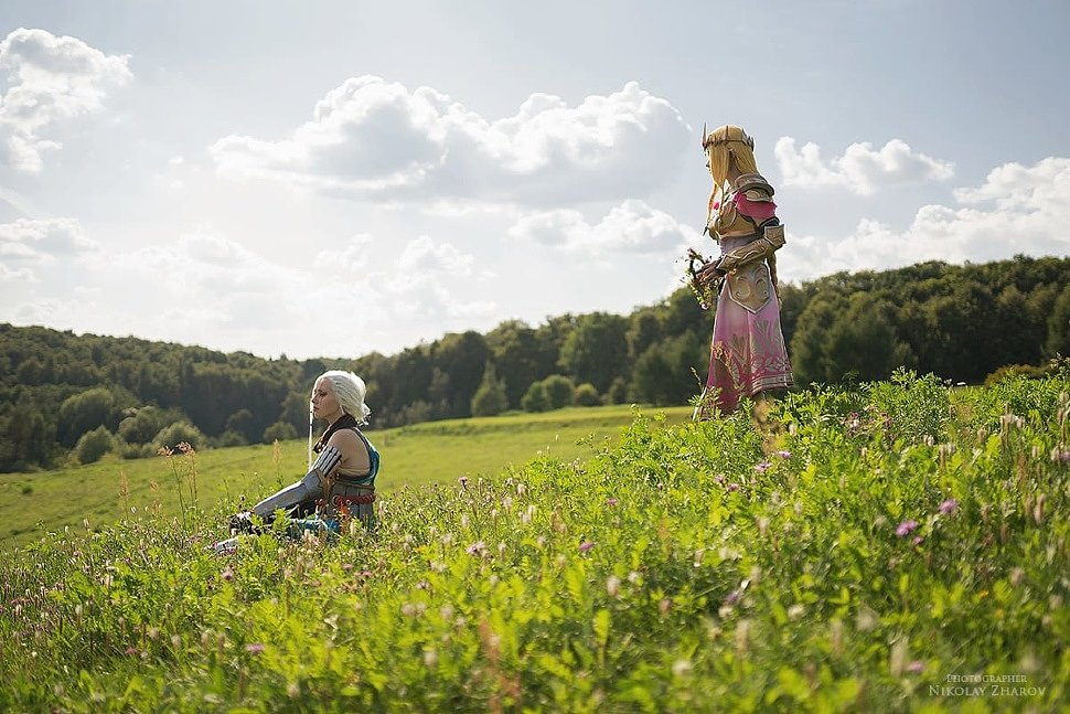 Russian Cosplay: Zelda & Impa (Hyrule Warriors)