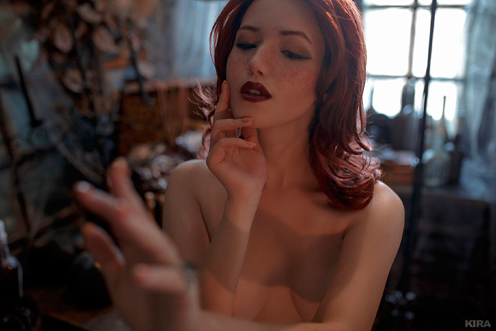 Russian Cosplay: Triss Merigold (The Witcher) 18+