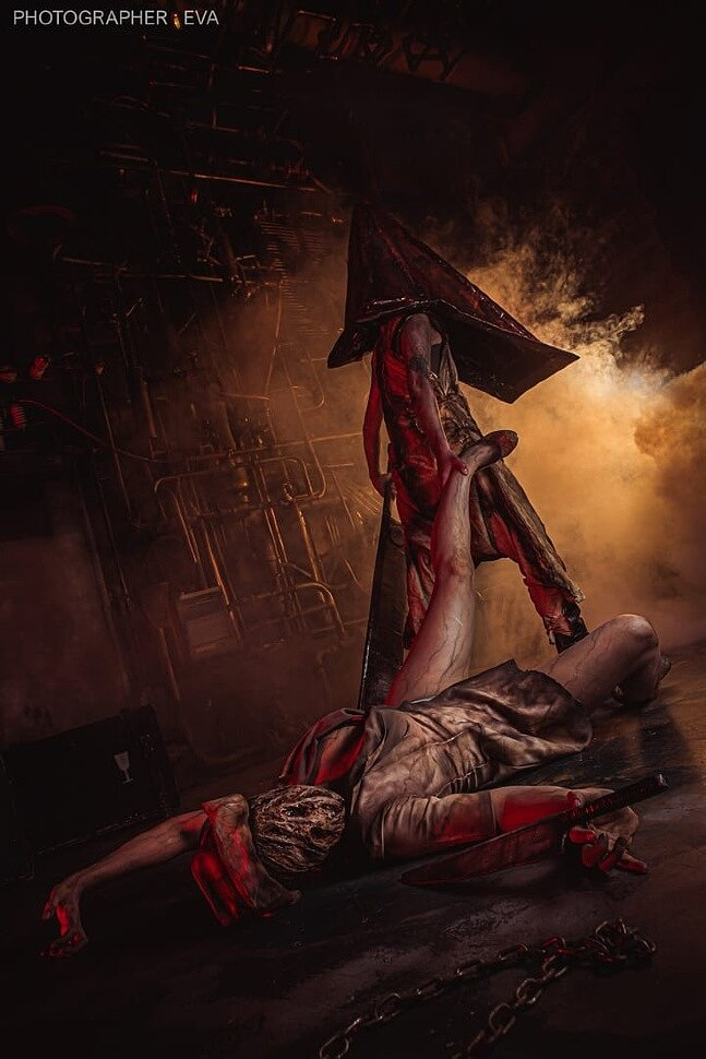 Russian Cosplay: Pyramid Head & Dark Nurse (Silent Hill) by Meyher