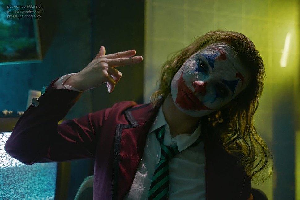 Russian Cosplay: fem! Joker (DC Comics) by Jannetin