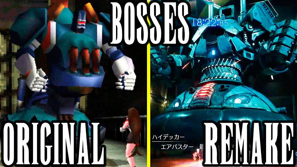 [Fun Video] Final Fantasy 7 Remake vs FF7 Original - Boss Battles Comparison